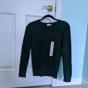 NWT Knit Forest Green Sweater